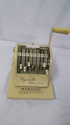 Vintage Paymaster Ribbon Writer Counting Machine Series 8000 With Key Works