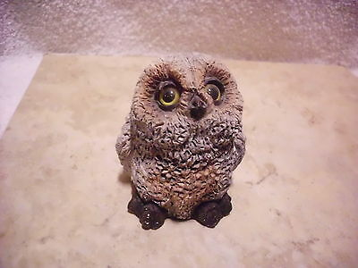 Vintage Stone Critters Baby Horned Owl 5Cb015 Labeled