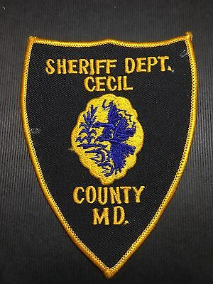 Cecil County Maryland Sheriff  Shoulder Patch Old   Used