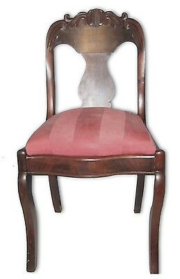 Antique Victorian Carved Empire Style Chair+Special Offer-See Details in Listing