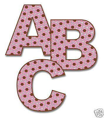 Girl Nursery Decals Letter Wall Art Baby Name Alphabet ABC Floral Stickers Decor