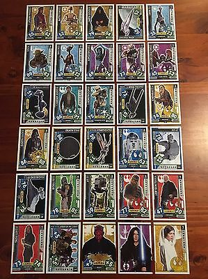 Star Wars - Force Attax 2017 (TOPPS collector cards) 30 x Cards Mixed Lot #3.