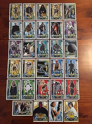 Star Wars - Force Attax 2017 (TOPPS collector cards) 29 x Cards Mixed Lot #4.