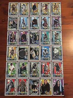 Star Wars - Force Attax 2017 (TOPPS collector cards) 30 x Cards Mixed Lot #5.