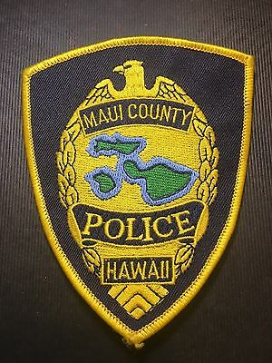Maui County Hawaii  Police Shoulder Patch   Old