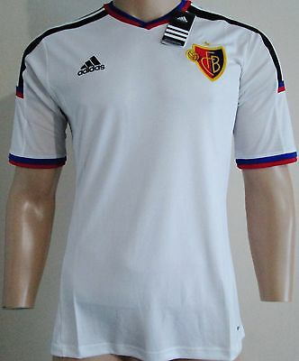 Men FC Basel player issue short sleeves away football shirt size S Adidas BNWT