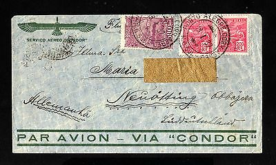 15400-BRAZIL-AIRMAIL CONDOR COVER PORTO ALEGRE to NEUOTTING (germany)1932.WWII