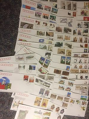 CHINA CHINE STAMPS SELECTION No 06 OF OFFICIAL FIRST DAY COVERS X 50 BUY IT NOW