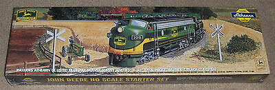 c1998 Athearn JOHN DEERE HO Scale Starter TRAIN SET wPower Supply, New / Sealed