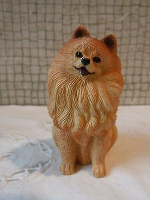 Living Stone Poly Stone Pomeranian Dog  Decor Item