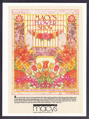 1987 Macy's Flower Show at Herald Square NYC art vintage promo print ad
