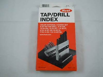 New Huot 18pc Tap/Drill Index National Course Set - Huot Index USA - FREE SHIP