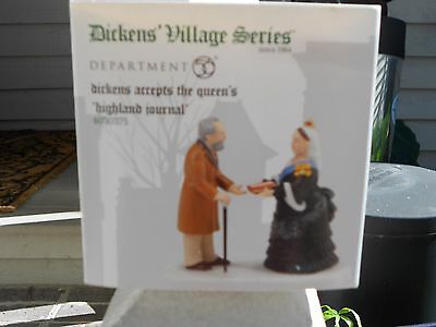 DEPT 56 DICKENS' VILLAGE Accessory DICKENS ACCEPTS THE QUEEN'S HIGHLAND JOURNAL