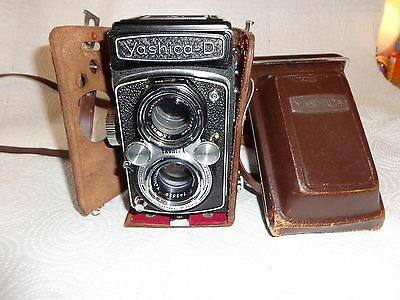 YASHICA  D Copal MXV TLR Film Camera Yashikor 80mm with leather case FAST S&H