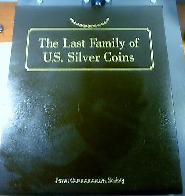 Last Family Of US Silver Coins Postal Commemorative Society Barber 10c, 25c, 50c
