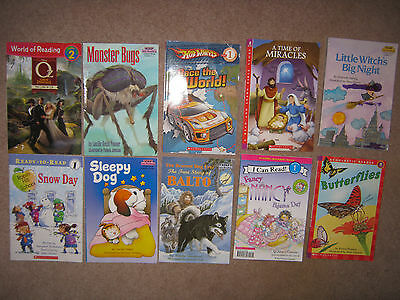 Lot of 100 Leveled Readers Grades 1-3 Step into Reading Hello Reader AR ReadyRea