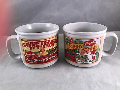 Pair Of Vintage Campbell's Soup Cups