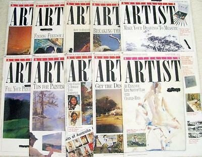 AUSTRALIAN ARTIST  MAGAZINES x 10   drawing & painting