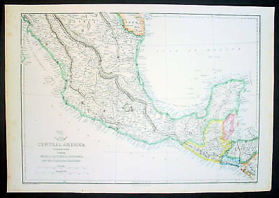 1860 Weekly Dispatch Map of Central America