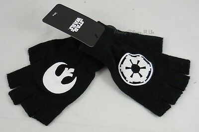 New Star Wars Rebel & Empire Logo Designs Fingerless Knit Gloves
