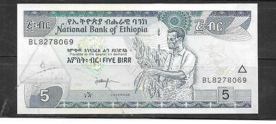 ETHIOPIA #47f 2005 UNC MINT 5 BIRR BANKNOTE PAPER MONEY CURRENCY BILL NOTE