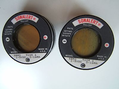 Audible Sound Buzzer. Sonalert. Sbm-2. (2 Lot) 1-5Vdc.. Nos New