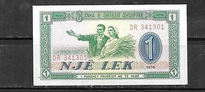 ALBANIA #40a 1976 UNC OLD LEK MINT BANKNOTE PAPER MONEY CURRENCY BILL NOTE