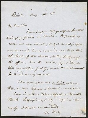 Daniel Webster - Autograph Letter Signed 8/16