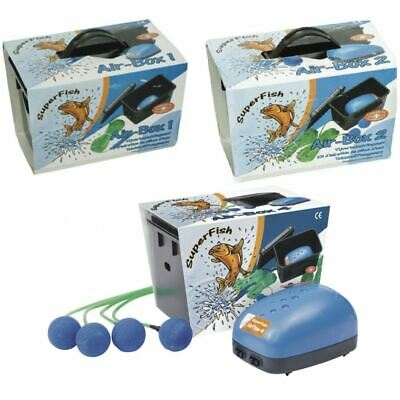 Superfish Air Box Pond Air Pump Aeration Kit With Airline Airstone