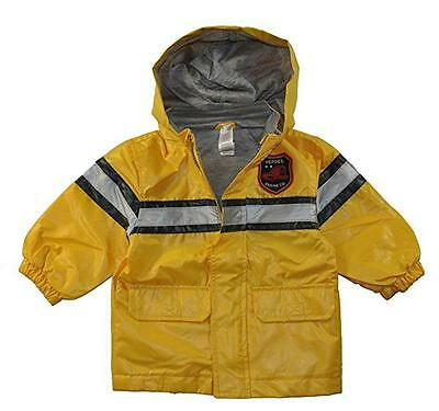 Carter's Toddler Boys Yellow Fireman Raincoat Slicker  Size 4T