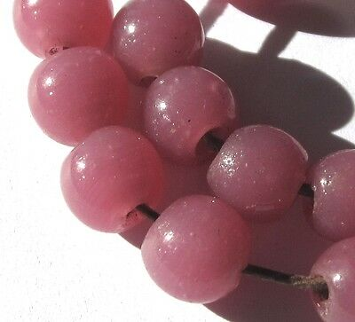 17 Beautiful Orchid Pink Peking Vintage Glass Beads