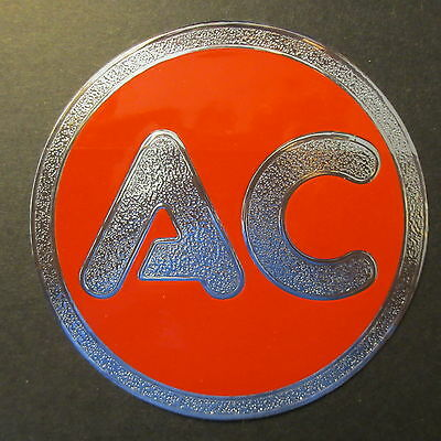 "AC Spark Plug NOS Promo 5.00"" Dia. Metal Foil Decal - Label - Sticker circa 1959"