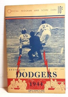 1944 Brooklyn Dodgers 3 vs St Louis Cardinals 5 Program & Scorecard  (T-1061)