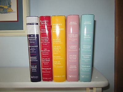 Lot of 5 Readers Digest Select Editions Books HCDJ James Patterson KristinHannah