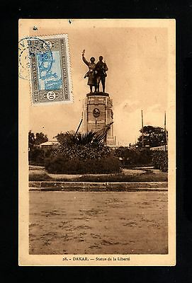 15550-SENEGAL-OLD POSTCARD DAKAR to FRANCE.1931.FRENCH colonies.carte postale