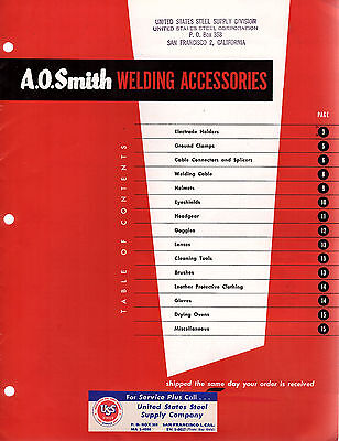 Welding Accessories 1953 Bulletin A.O. Smith Milwaukee Wisconsin Photos Specs