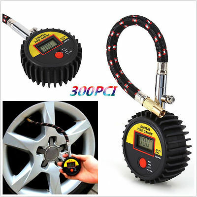 Motorcycle Car 300 PSI Digital Tire Tyre Air Pressure Gauge Meter Tester TO