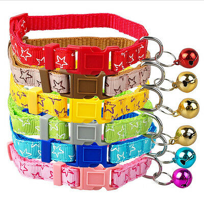 Small Dog Puppy Cat Colorful Collar with Bell Neck Adjustable Collars 2016