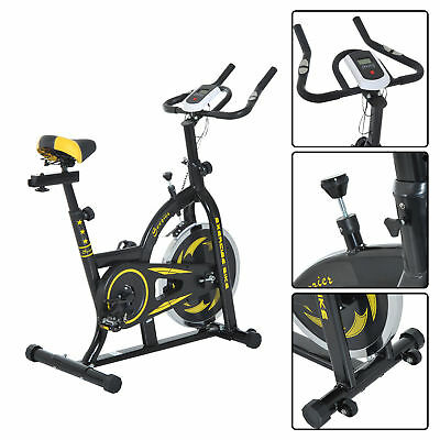 Soozier Stationary Exercise Bike Indoor Bicycle Cycling Cardio Workout Training