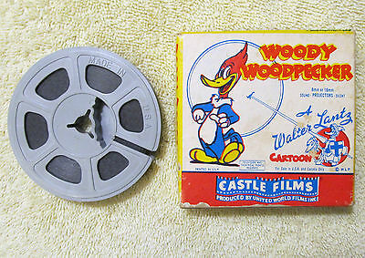 Vintage Woody Woodpecker 494 Solid Ivory 8mm Headline Edition, Castle Films