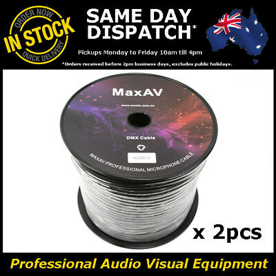 High Quality 200 Metre Shielded Pro True DMX Cable Wire Lead Roll 200m 4 Core