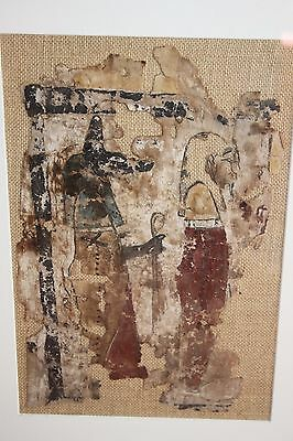 ANCIENT EGYPTIAN LINEN ANUBIS PATRON of EMBALMERS LATE DYNASTIC 30th DYN 380 BC