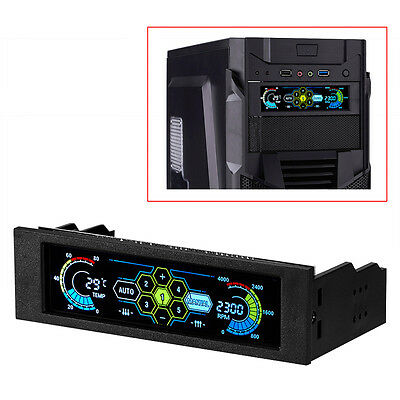 LCD Touch Screen Display Automatic Front Panel Temperature Fan Controller