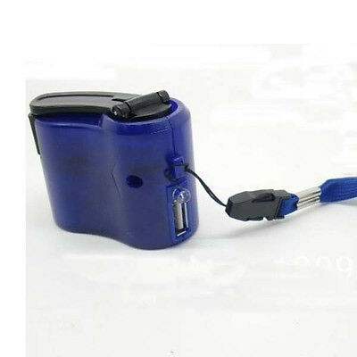 Hand Power Dynamo Hand Crank USB Cell Phone Emergency Charger Gadget Cool