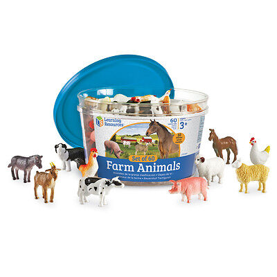 Learning Resources Farm Animal Counters (60 Pieces) NEW