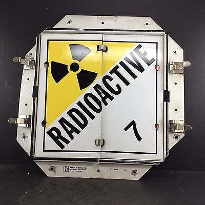 Vintage Kresky Hazmat Flip Sign -  Mancave -  Radioactive - Poison -Flamable Gas