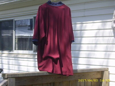 Mcdonalds Crew Casual Burgundy Shirt Xl Size By Crest