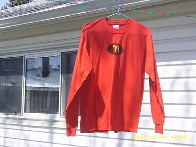 Mcdonalds Crew Casual Red Shirt Med. Size By Gildan Active Wear