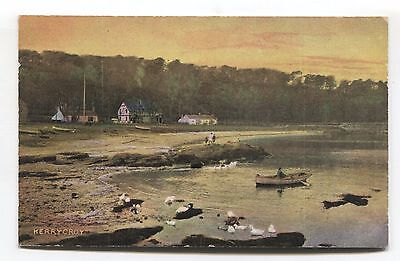 Kerrycroy, Bute - coast, houses, boat - early postcard
