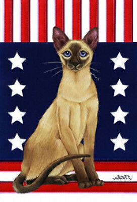 Garden Indoor/Outdoor Patriot (TP) Flag - Siamese Cat 770071